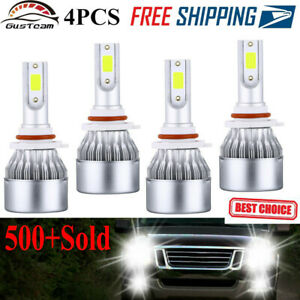 4x 9005 9006 Combo Led Headlight Kit 200w 40000lm Hi lo Beam Bulbs 6000k White