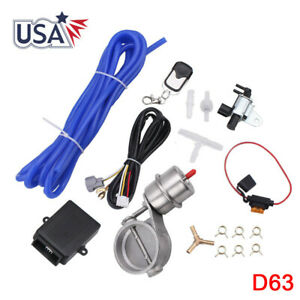 63mm 2 5 Vaccum Control Exhaust Valve cutout Set With Vacuum Pump With Wireless