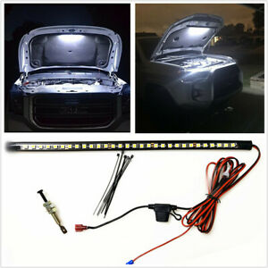 1pc Watterproof 36cm Led Panel Lights Automatic Switch Fit For Car Engine Repair