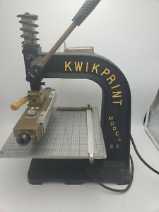 Kwikprint Model 55 Hot Foil Stamping Machine W Dies And Foik