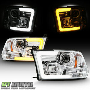 2009 2018 Dodge Ram 1500 Chrome Led Drl Signal Switchback Projector Headlights