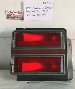 Used Oldsmobile Cutlass Supreme 1978 Left Tail Light drivers Quality