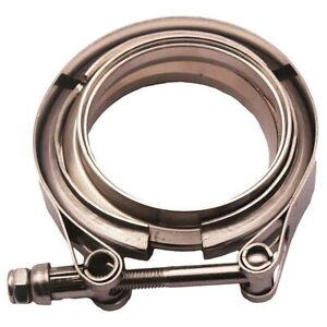 Universal 3 5 Inch V Band Flange Clamp Kit For Turbo Exhaust Downpipes 89mm