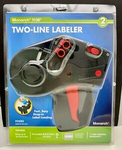 New Monarch 1136 Two Line Labeler Gun 925082 Pricing 2 line Gun 16 Characters