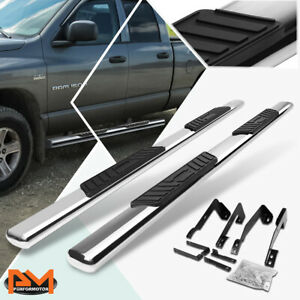 For 02 09 Dodge Ram Truck Quad Oval 5 Side Step Nerf Bar Running Board Chrome