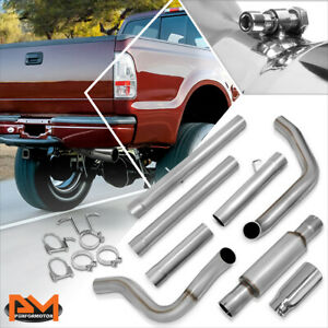 For 99 03 Ford F250 f350 Sd 7 3l Turbo Diesel 5 Muffler Tip S s Catback Exhaust