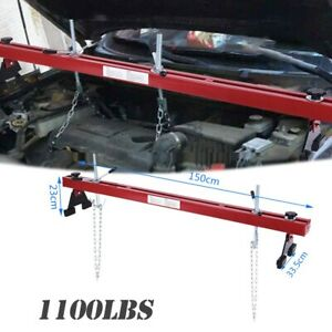 Engine Load Leveler 1100lbs Capacity Bar Transmission Support Dual Hook 28 Long
