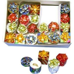48 Assorted Metallic Ring Jewelry Display Gift Boxes 1 5 8