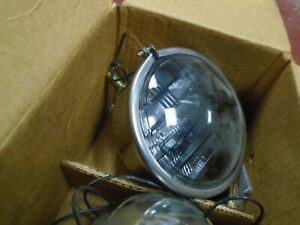 Pair Driving Light Per Lux 200 T Fog Lamp Nib Vintage Auto Truck W Mount Bracket