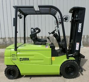 Clark Model Gex30 2013 6000 Lbs Capacity Great 4 Wheel Electric Forklift