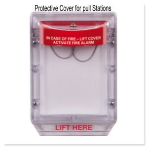 Safety Fire Alarm Pull Station Protector Lift Cover Stopper Ii W Horn Sti 1100