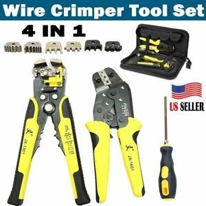 4in 1 Professional Wire Crimper Pliers Ratcheting Terminal Cord End Tool For Car