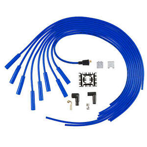 Accel 5040b 8mm Blue Spark Plug Wire Set Universal Blue Wire Straight Boots