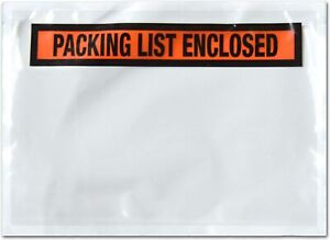 7 5 X 5 5 Packing List Envelope Enclosed Slip Pouch Self Adhesive Shipping Label
