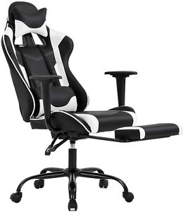 Ergonomic Office Chair Pc Gaming Chair Desk Chair Executive Pu Leather Computer