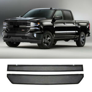 Grill Covers For 2016 2017 2018 Chevy Silverado 1500 Grille Overlay Gloss Black