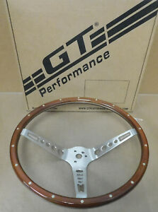 Gt Performance 35 5457 Gt3 Retro Mustang Wood Steering Wheel 3 Spoke 15