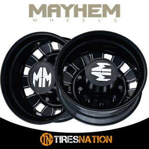 2 Mayhem 8180 22 5x8 25 10 285 75 220 1 169 Rear Black Wheel Rim