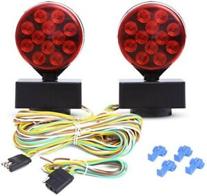 Czc Auto 12v Led Magnetic Towing Light Kit Magnetic Strength 55 Pounds New open