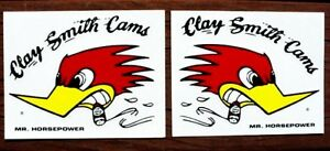 2 Clay Smith 3 Decals Mr Horsepower Hot Rod Muscle Car Stickers Mooneyes