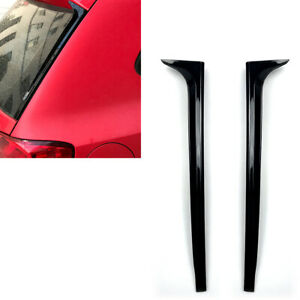 Rear Window Spoiler Side Wing Trim Cover For Volkswagen Vw Polo Mk5 11 17 Gloss