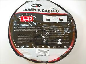 Top Dc jumper Cables 1 gauge 25 ft Heavy Duty Booster Cables W Carry Bag
