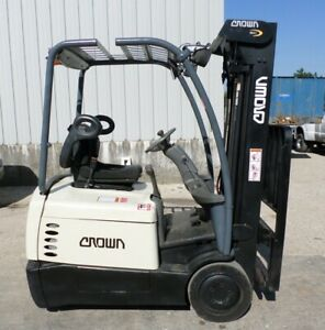 Crown Sc4520 35 2006 3500 Lbs Capacity Great 3 Wheel Electric Forklift