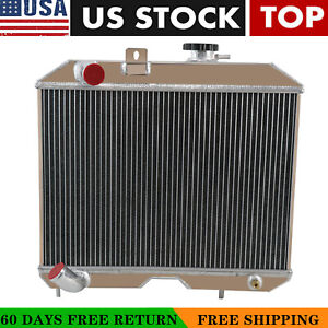 4 row Aluminum Radiator For 1941 1952 1950 Jeep Willys Mb cj 2a m38
