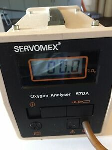 Servomex Paramagnetic O2 Analyzer Good Working Calibrated Oxygen Analyzer