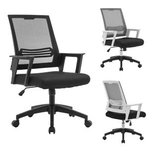 Mesh Office Chair Swivel Mid Back Computer Adjustable Ergonomic Desk Task Chairs