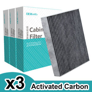 3x Cabin Aircon Filter For Ford Edge Fusion S max Lincoln Mkx Mkz Dg9z 19n619 a