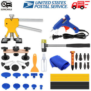 Car Paintless Dent Repair Puller Kit Car Rubber Hammer Ding Removal Auto Tools