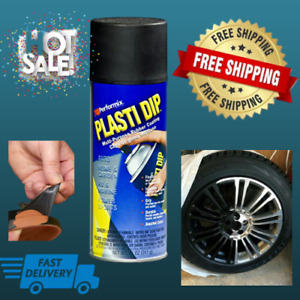Black Color Diy Car Wheels Plasti Dip Rubber Coating Spray Paint Matt Rims Cans