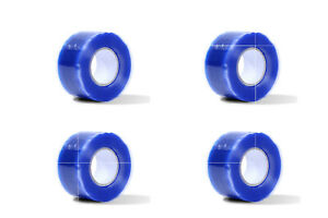 4pcs Rubber Silicone Repair Waterproof Bonding Tape Rescue Self Fusing Wire Blue