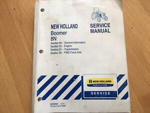 New Holland 8n Boomer Tractor Factory Service Manual Engine Transmission Fwd Oem