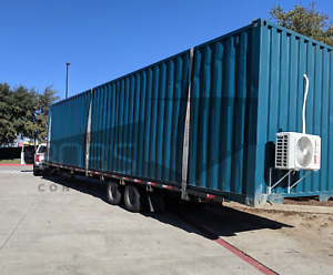 40 Ft Cool Box Storage Container 1 Ton Hvac Outlets Lights