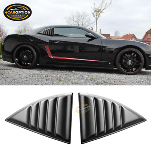 Fits 10 15 Chevy Camaro Xe Window Louvers Scoops Cover 2pc Matte Black Pp