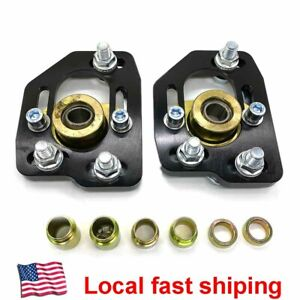 Front Adjustable 3 0 Camber 2 0 Caster Plates Kit For 1990 93 Ford Mustang