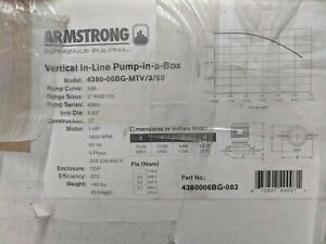 Armstrong Pump 2x2 125 Flg 4380 1 Hp 3ph 1800rpm 60hz Red Cast Iron Body
