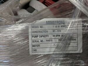 Armstrong Pump 1 5d 4360 75hp 1ph 1800rpm 36 Gpm 30 Ft Head Red Cast Iron