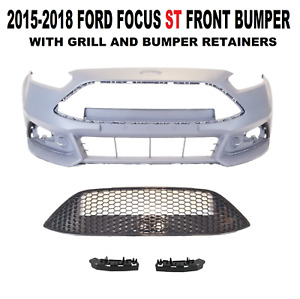 2015 2016 2017 2018 Ford Focus St Front Bumper Cover With Grill
