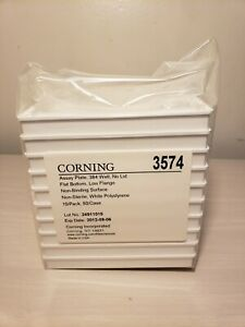Corning 3574 Assay Plate 384 Well No Lid 10 pack Sealed