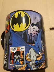 Batman Coffee Mug Comic Panels 14oz  Black cup. New