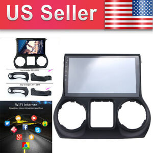 10 2 Android9 1 Car Stereo Gps For 11 14 Jeep Wrangler Radio Head Unit Us Stock