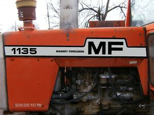Massey Ferguson Mf 1135 Hood Decal Set