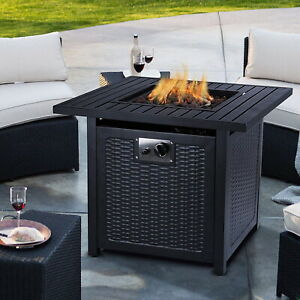 Propane Gas Fire Pit Outdoor Patio Heater Portable Firebowl Space Heat Fireplace