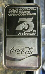 Coca-Cola 75th Anniversary 1 oz .999 Fine Silver Art Bar