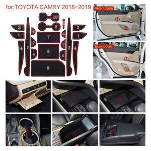 For 2018 2019 Toyota Camry Cup Holder Door Console Liner Accessories