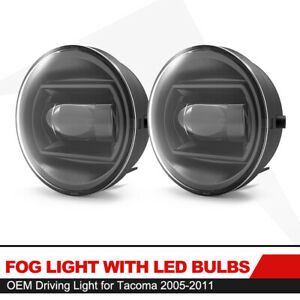 2pcs Led Bumper Fog Lights Direct Replacements For Tacoma 2005 2011