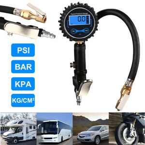 300 Psi Digital Tire Inflator With Pressure Gauge Air Chuck For Truck Rv